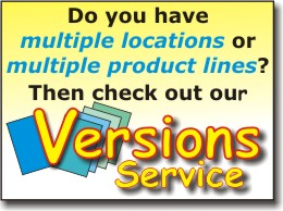 CLICK for info on our NEW Versions Service!